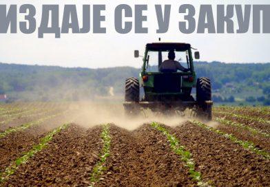 Закуп пољопривредног земљишта у државнј својини